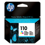 Original HP No110 tri colour cyan magenta yellow printer ink cartridge CB304AE