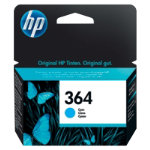 Original HP No364 cyan printer ink cartridge CB318EE