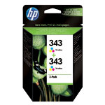 HP 343 Original Ink Cartridge CB332EE 3 Colours Duopack