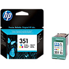 Original HP No351 tri colour cyan magenta yellow printer ink cartridge CB337EE
