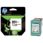 Original HP No351XL high capacity colour printer ink cartridge CB338EE