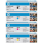 Original HP CB540A CB541A CB542A CB543A set of four laser toners black cyan magenta yellow HP No 125A