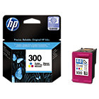 Original HP No300 tri colour cyan magenta yellow printer ink cartridge CC643EE