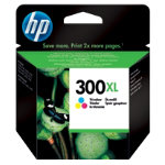 Original HP No300XL high capacity tri colour cyan magenta yellow printer ink cartridge CC644EE