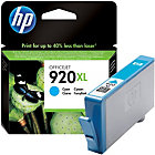 Original HP No920XL cyan printer ink cartridge CD972AE