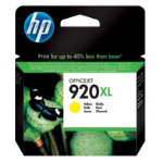 Original HP No920XL high capacity yellow printer ink cartridge CD974AE