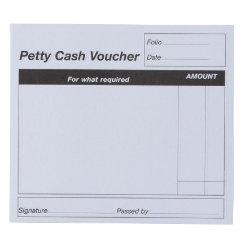 Viking Petty Cash Vouchers 10 X 12.5 Cm White Pack 20  Petty Cash Slips Template
