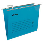 Niceday coloured suspension files blue foolscap pack of 50