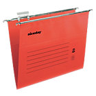 Niceday coloured suspension files red foolscap pack of 50