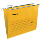 Niceday coloured suspension files yellow foolscap pack of 50
