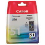 Canon 51 Original 3 Colours Ink Cartridge 0618B001