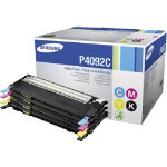 Samsung CLT P4092S Black Cyan Magenta Yellow Toner Cartridge