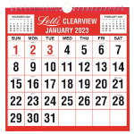 Letts Clearview Monthly Calendar 238 x 238 mm