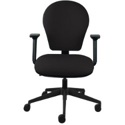 Energi 24 Posture Task Office Operators Chair In Black Fabric