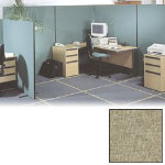 Versatile Freestanding Dividing Screens Full Width Woolmic Fabric Beige 1200 x 1500 mm