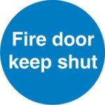 Quality Signs Fire Door Keep Shut Self Adhesive Polyurethane 60 x 60 mm