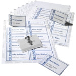 Durable Combi Clip Name Badge Set 54 x 90mm