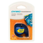 Dymo Letratag Label Plastic Pearl White 12mm x 4m