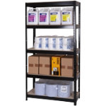 4 Tier Boltless Shelving Unit Black 1400h x 700w x 300d