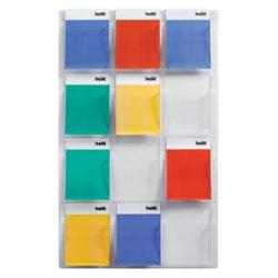 Crystal Clear Wall Display Unit 12 magazine Unit 762 x 1245 x 63 mm