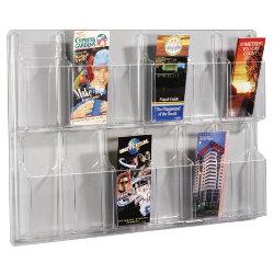 Crystal Clear Wall Display Unit 12 Leaflet Unit 762 x 518 x 63 mm