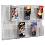 Crystal Clear Wall Display Unit 12 Leaflet Unit 762 x 518 x 63 mm
