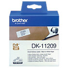 Brother DK 11209 QL Address Labels Small 29x62mm White Roll of 800
