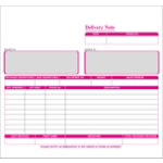 Ease Apart Personalised Delivery Note Set 3 Part 203 x 178 mm 250 Sets Per Pack