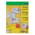 Sigel PC 185gsm Business Cards for Inkjet Laser Copier High White 150 pack