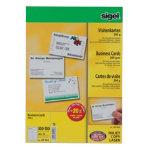 Sigel PC 200gsm Business Cards for Inkjet Laser Copier High White 600 pack