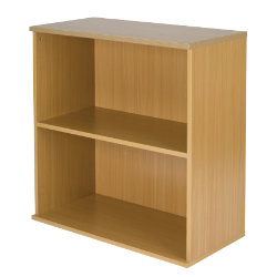 Newbury Office Environment Low Bookcase Oak 80W x 40D x 83H cm