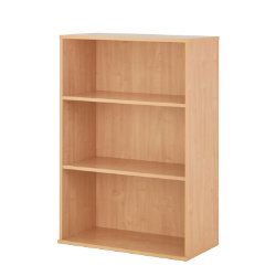Newbury Office Environment Medium Bookcase Beech 80W x 40D x 1215H cm