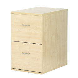 Newbury Office Furniture 2 Drawer Filing Cabinet Maple H410xD600xH694mm