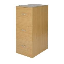Office Depot Newbury three-drawer filing cabinet oak-effect