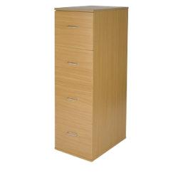 Office Depot Newbury four-drawer filing cabinet oak-effect
