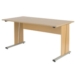 Newbury straight office desk 1500mm in maple effect by viking - Viking office desk ...