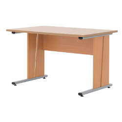 Newbury Office Environment 120cm Desk Beech 120W x 75D x 725H cm