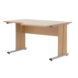 Newbury Office Environment Right Hand Ergo Desk Beech 725H x 130W x 75Dcm