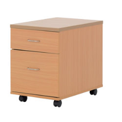Newbury Office Environment 2 Drawer Mobile Pedestal Beech 41W x 614D x 556H cm