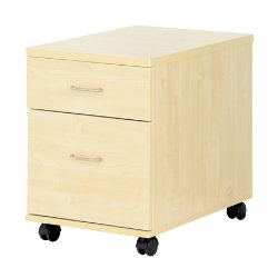 Newbury Office Environment 2 Drawer Mobile Pedestal Maple 41W x 614D x 556H cm