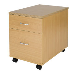Newbury Office Environment 2 Drawer Mobile Pedestal Oak 41W x 614D x 556H cm