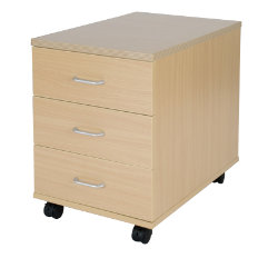 Newbury Office Environment 3 Drawer Mobile Pedestal Oak 41W x 614D x 556H cm