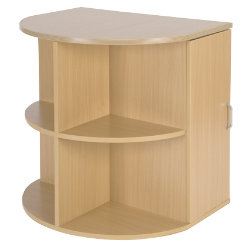 Unbranded Newbury Office furniture range radial desk end with CPU storage maple-effect