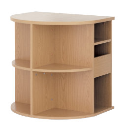 Office Depot Newbury Office furniture range radial desk end with CPU storage oak-effect