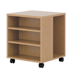 Newbury Office Environment Mobile Printer Stand Oak 50W x 50D x 584H cm