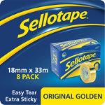 Sellotape Small Core Clear Tape 18mm x 33m Pack of 8 Rolls