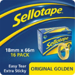 Sellotape Large Core Tape 18 mm x 66 m 16pk