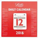 Letts 2016 Daily Tear off Calendar