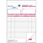 Ease Apart Personalised Purchase Order Sets 3 Part 203 x 178 mm 250 Sets Per Pack