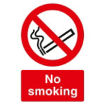 Warning Sign No Smoking 2mm Foam Board 200 x 300 mm